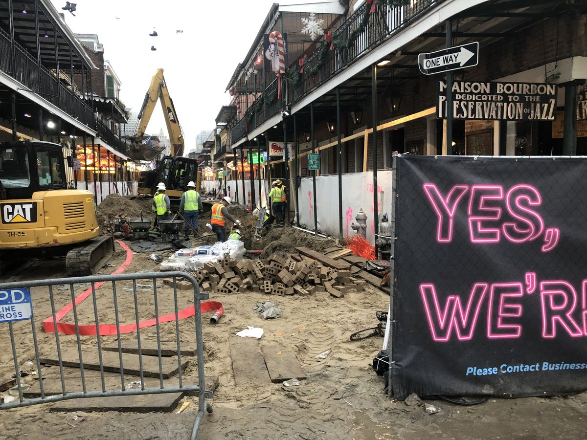 "alt= ""Bourbon Street Construction Site"""